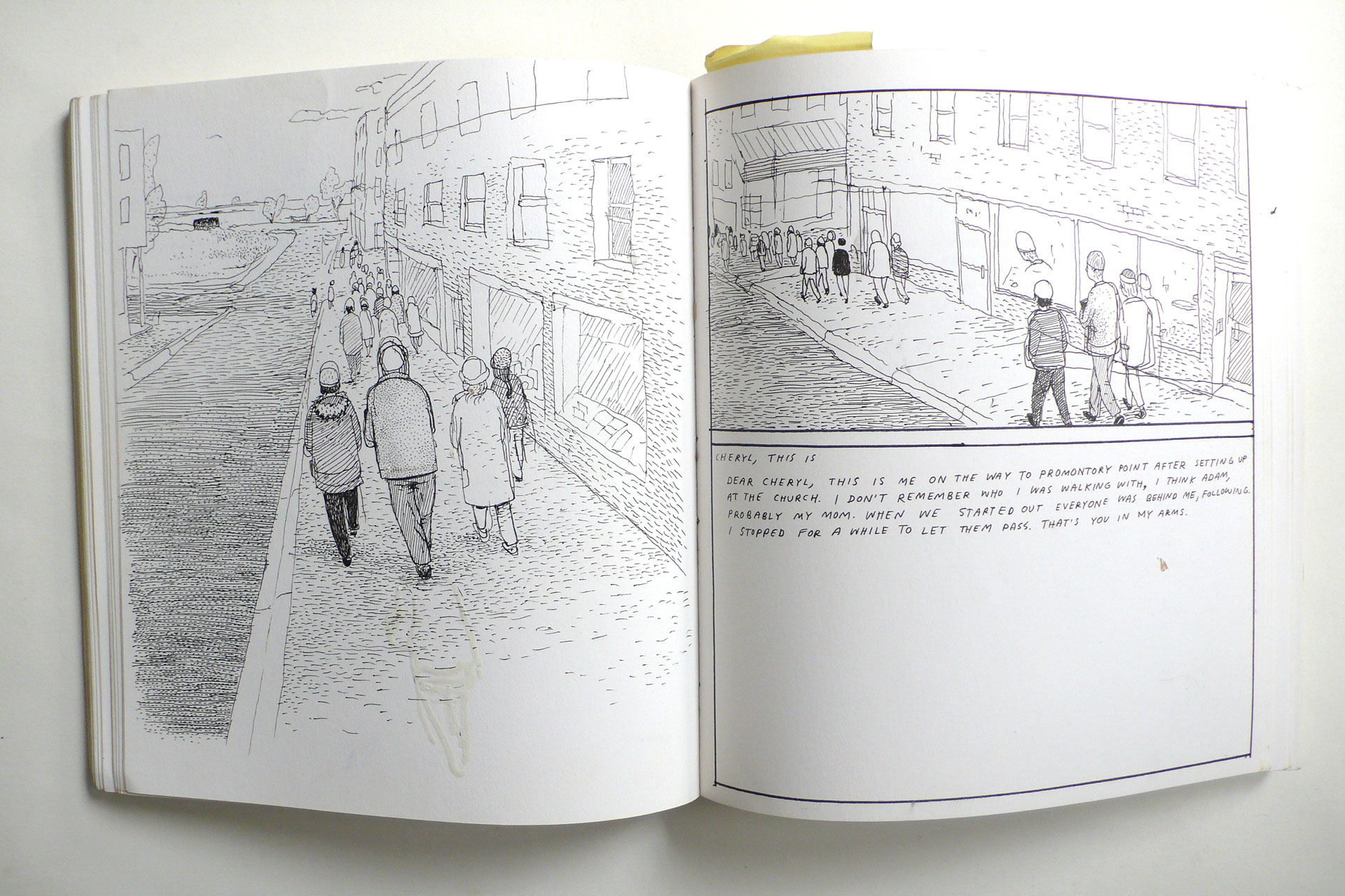 "Anders Nilsen, Original Sketchbook Drawings for ""Don't Go Where I Can't Follow."" (Drawn & Quarterly, 2012)"