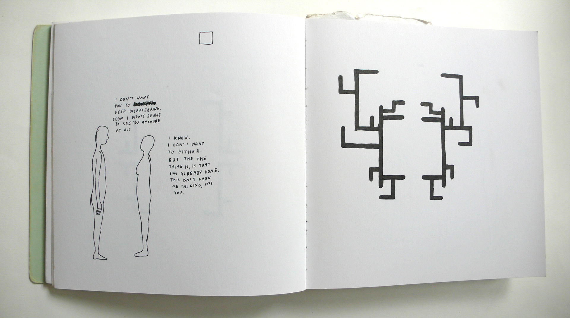"Anders Nilsen, Original sketchbook drawings for ""The End."" (Fantagraphics, 2013)."