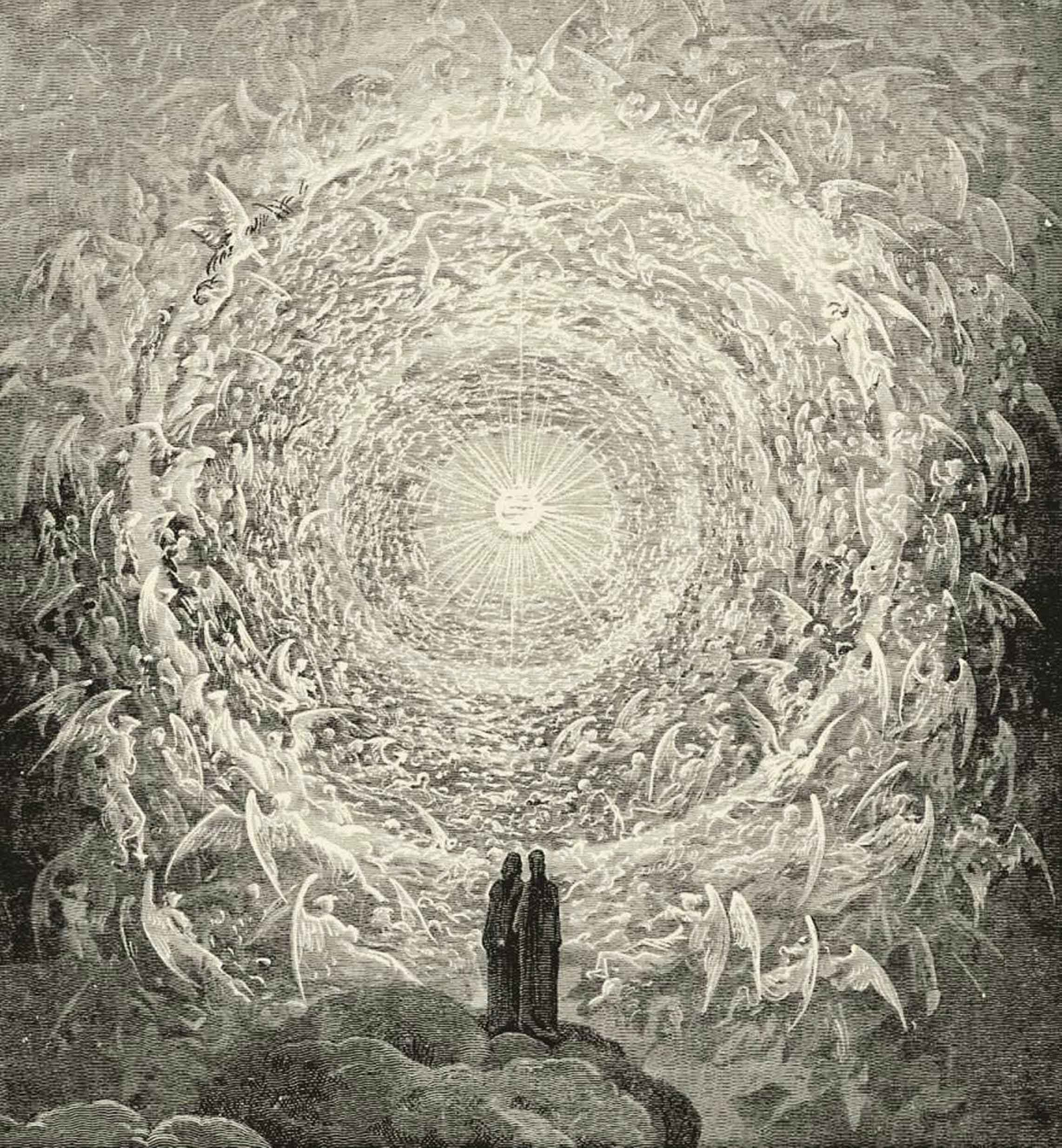 "Gustave Dore, ""The Empyrean""."