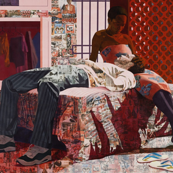 "Njideka Akunyili Crosby, ""Nwantinti,"" 2012.
