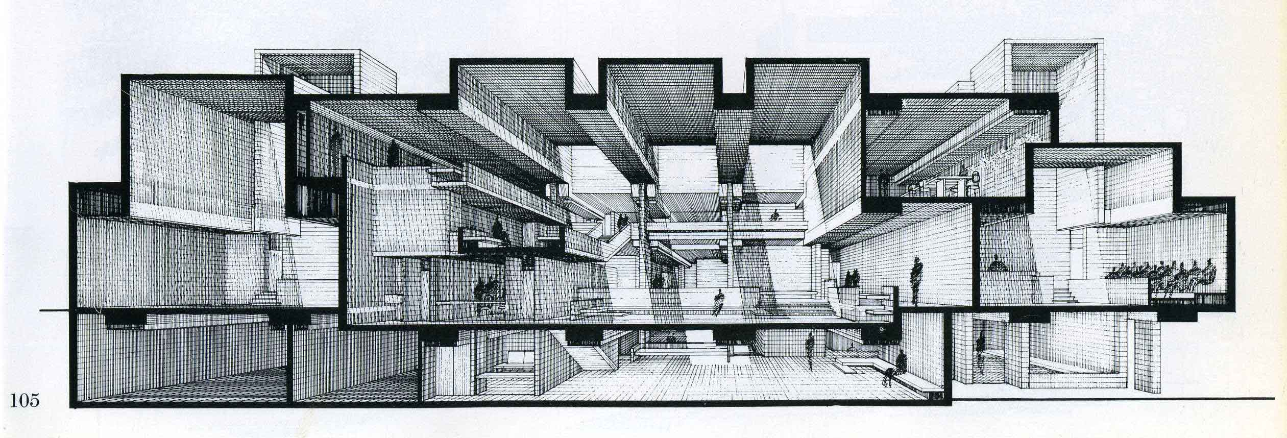 House Perspective With Floor Plan Sections Archives Lines Amp Marks