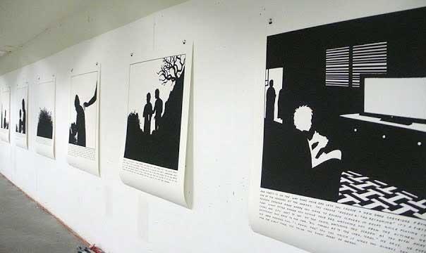 "Installation shot of ""Big Questions"" exhibition at Fumetto, Lucerne Switzerland, 2013."