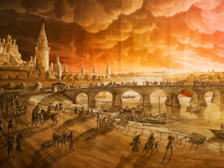 """Karl Friedrich Schinkel,""""Der Brand von Moskau, 1812/1813"""""""