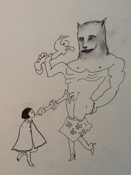 Collaborative drawing by Marcel Dzama, Spike Jonze, and Maurice Sendak. (2011)